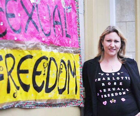 Charlotte Rose Protests For Your Sexual Freedoms...Again